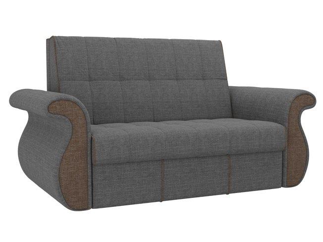 Диван-кровать аккордеон Родос, серый/коричневый/рогожка фото