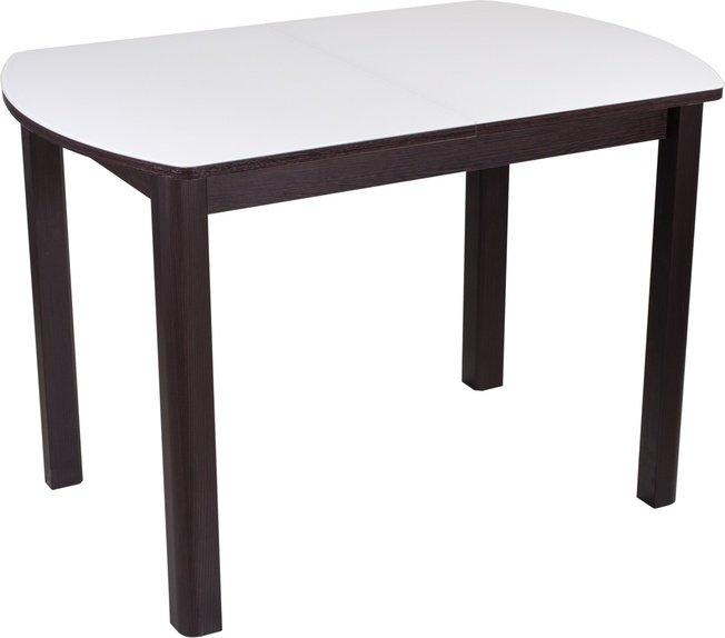 Стол обеденный раздвижной Танго ПО-4, венге/белое стекло фото