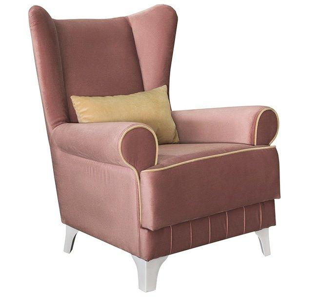 Кресло для отдыха Каролина, пепельно-розовое ТК 120 фото