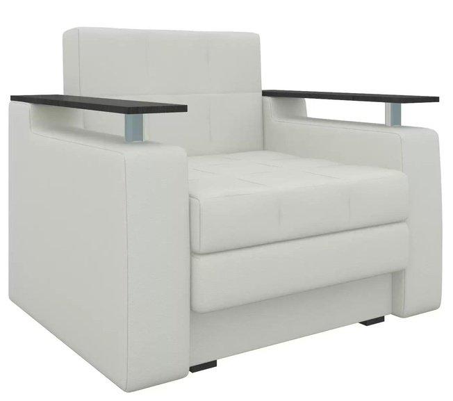 Кресло-кровать Мираж, белое/экокожа фото