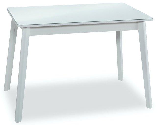 Стол обеденный раздвижной BOSCO, белый/стекло фото