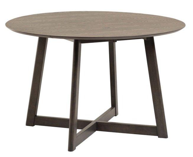 Стол обеденный круглый Maryse 120x75, коричневый фото