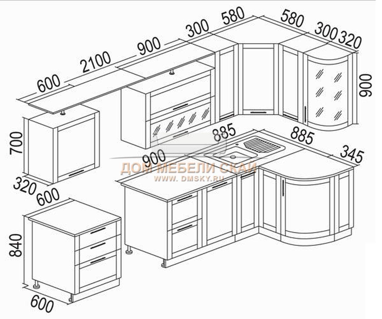Кухни своими руками с чертежами