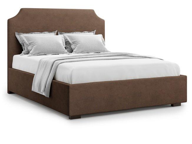 Кровать 1400 Izeo с подъемным механизмом, шоколадный велюр velutto 23 фото