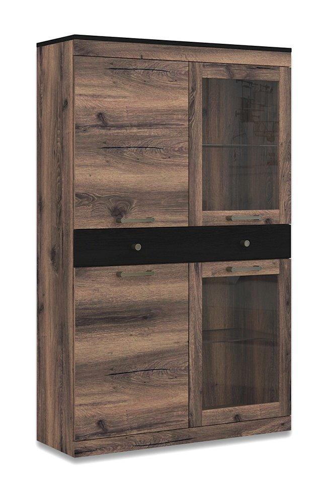 Шкаф-напольный витрина Джаггер 2V2D1S фото
