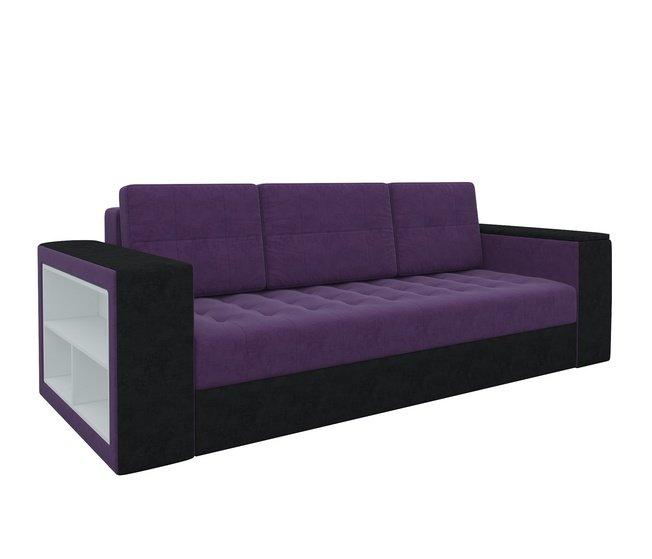 Диван-кровать Пазолини, фиолетовый/черный/микровельвет фото