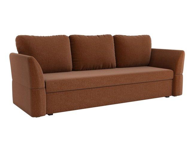 Диван-кровать Гесен, коричневый/рогожка фото