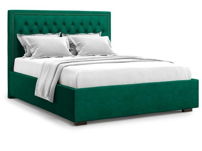 Кровать 1400 Orto с подъемным механизмом, зеленый велюр velutto 33 фото
