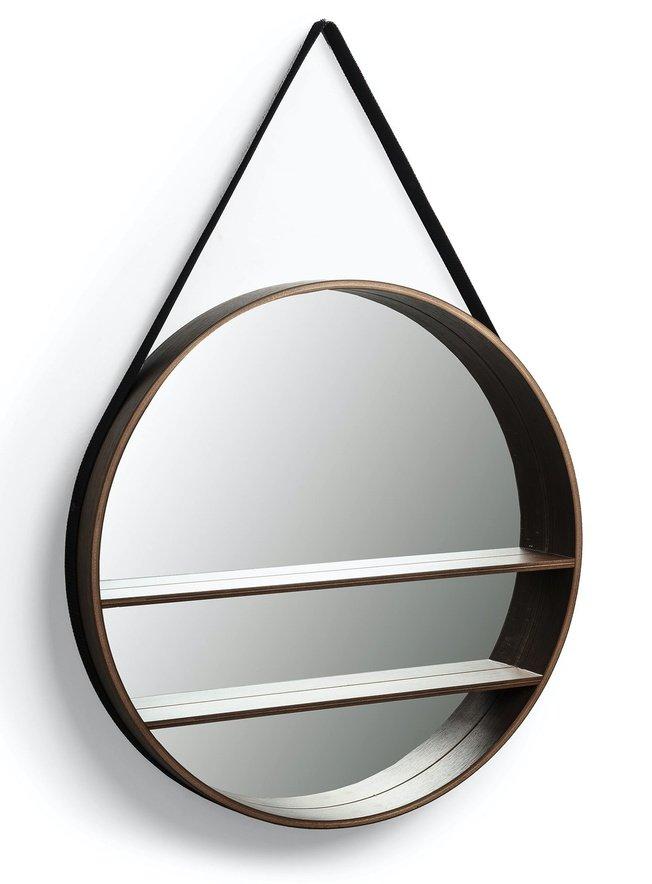 Зеркало настенное Benton D58,5, ореховый шпон фото