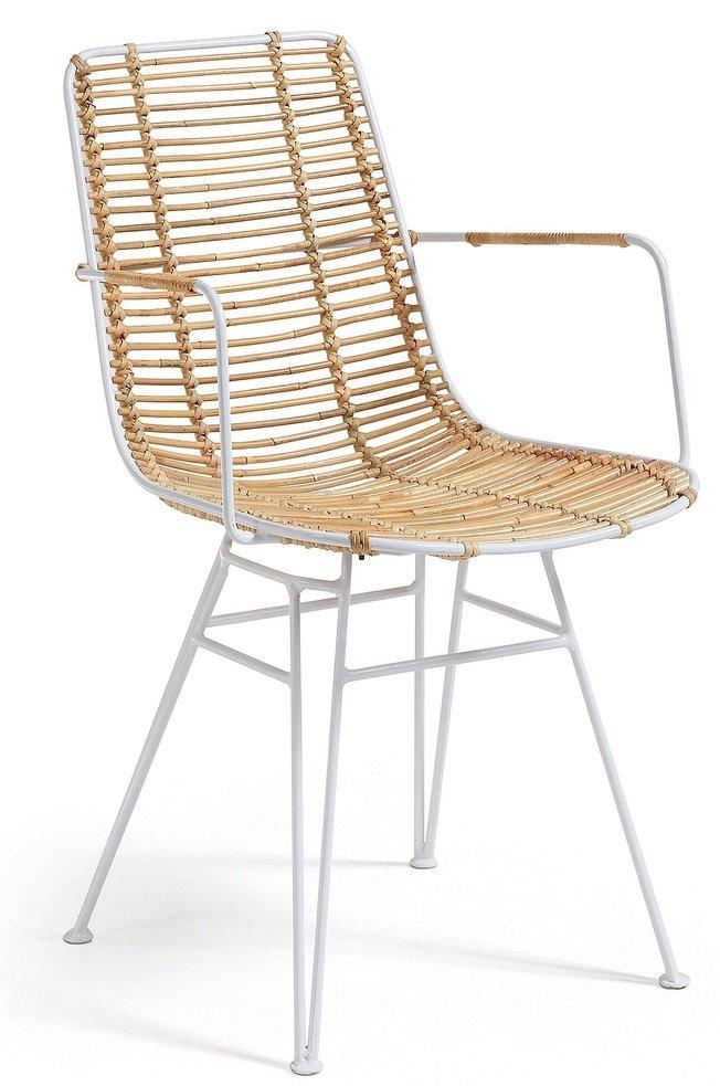 Стул-кресло Ashanti, белое фото