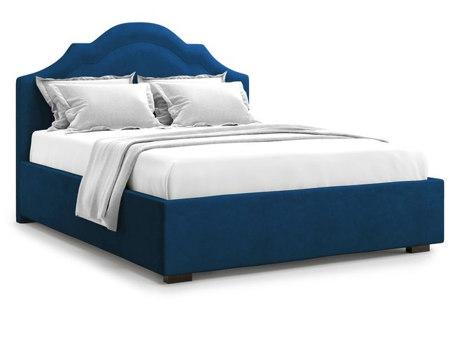 Кровать 1600 Madzore с подъемным механизмом, синий велюр velutto 26 фото