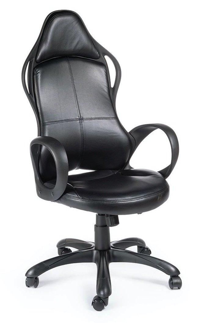 Кресло офисное Вайпер, черный пластик/черная экокожа фото