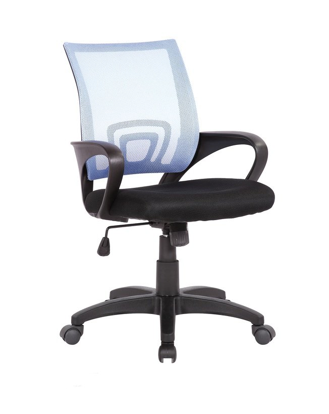 Кресло офисное TopChairs Simple, голубое фото