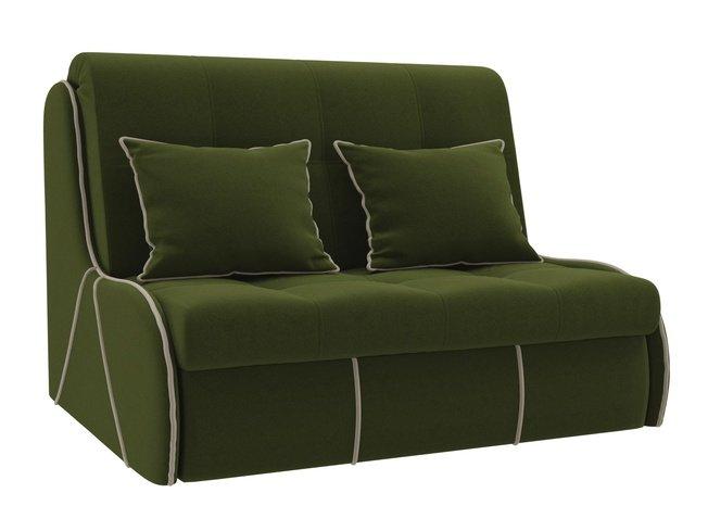 Диван-кровать аккордеон Риттэр, зеленый/микровельвет фото