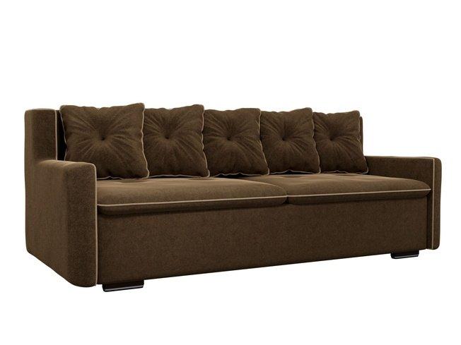 Диван-кровать Витаре, коричневый/микровельвет фото