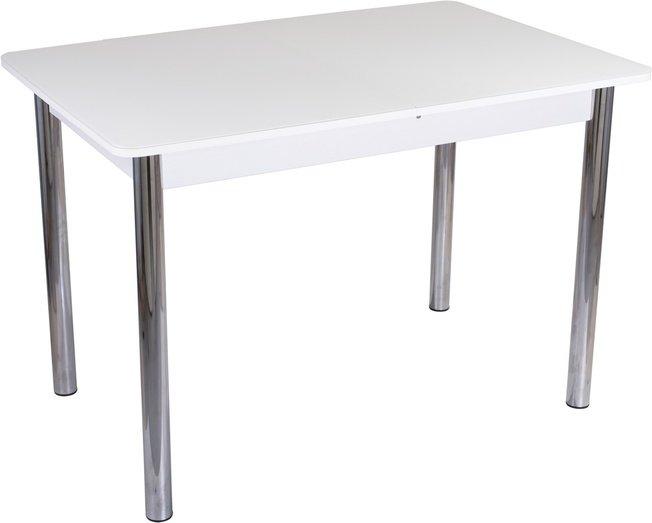 Стол обеденный раздвижной Танго ПР-2, белый/белое стекло фото