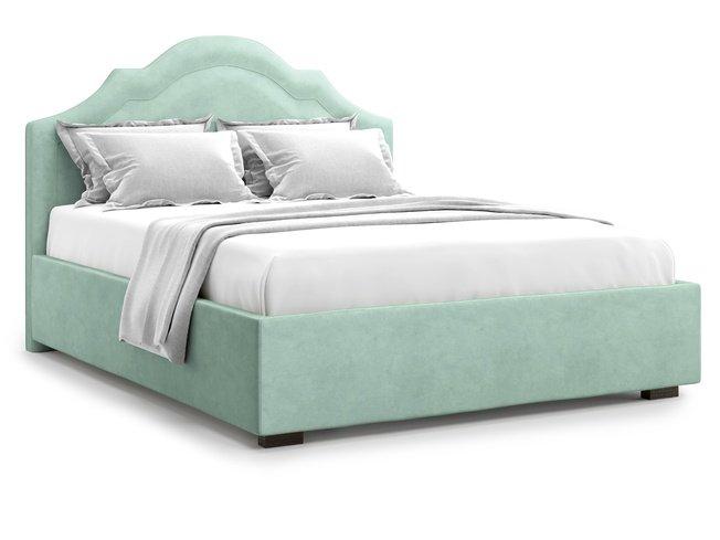 Кровать 1400 Madzore с подъемным механизмом, ментоловый велюр velutto 14 фото