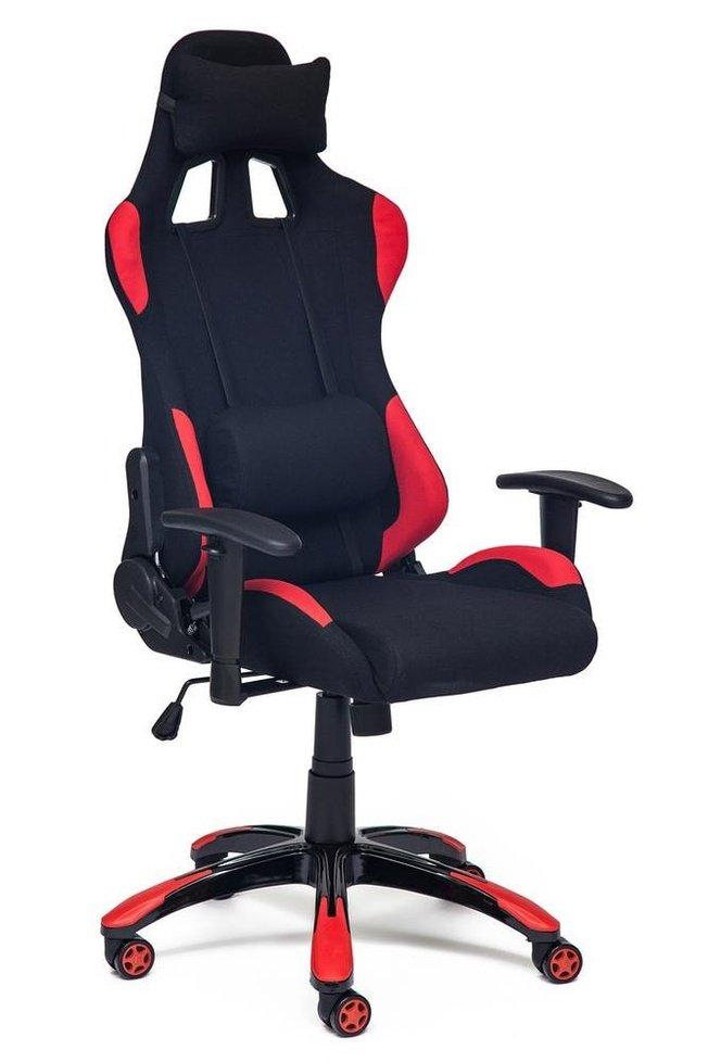 Кресло офисное Айгир iGear, черная рогожка/красная рогожка фото