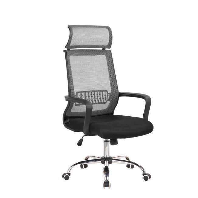 Кресло офисное TopChairs Style, серое фото