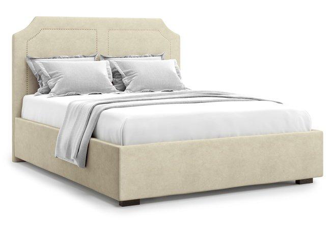 Кровать 1800 Lago с подъемным механизмом, бежевый велюр velutto 17 фото