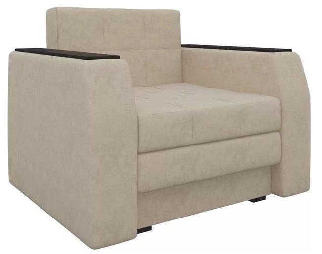 Кресло-кровать Атлантида, бежевое/микровельвет фото