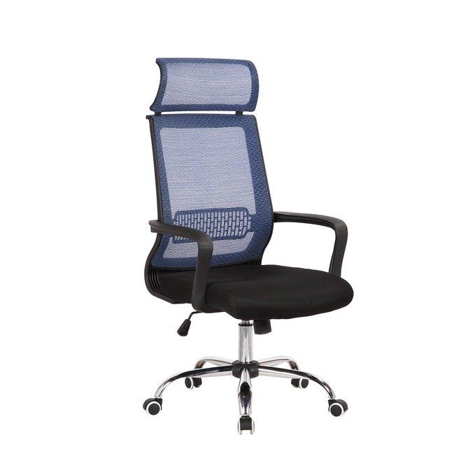 Кресло офисное TopChairs Style, голубое фото