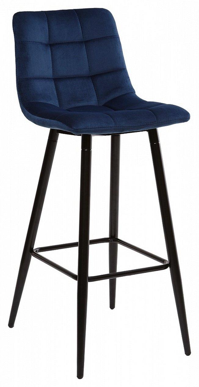 Барный стул LECCO, NAVY BLUE/велюр фото