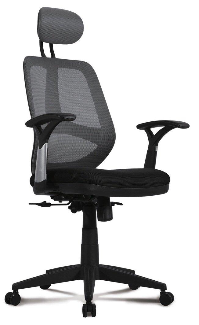 Кресло Brabix Saturn ER-400 с подголовником, черное/серое фото