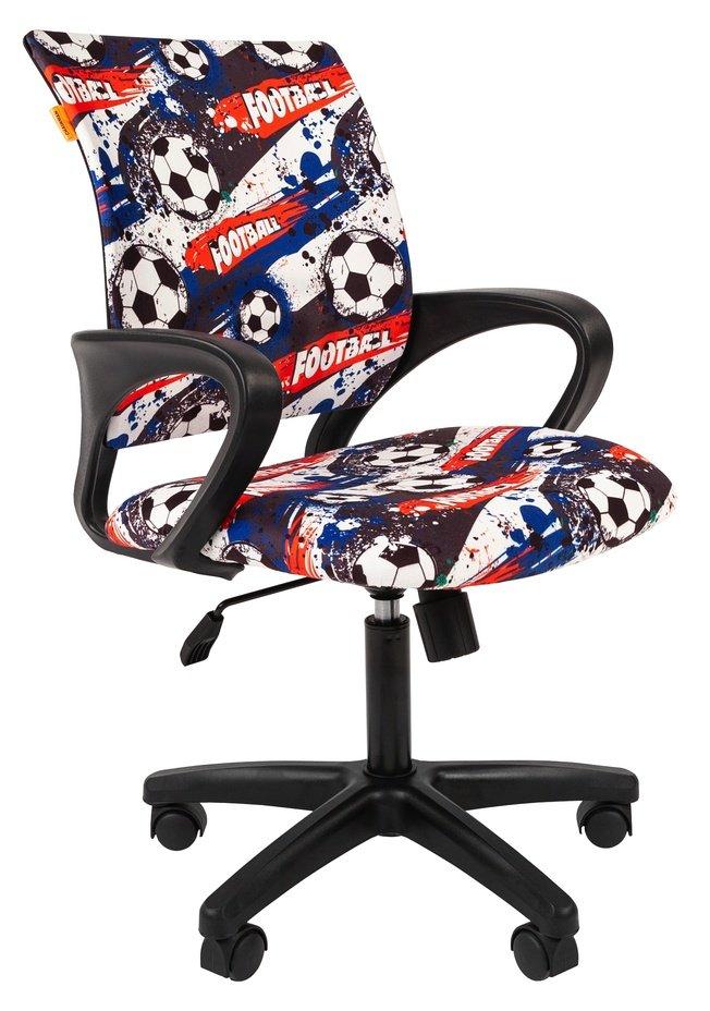 Кресло Chairman Kids 103, ткань футбол (чер) фото