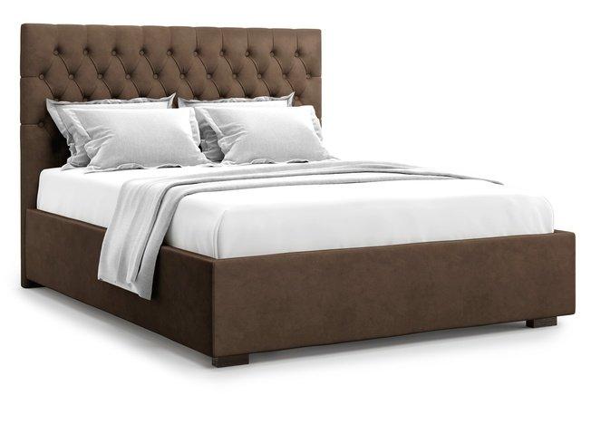 Кровать 1600 Nemi без подъемного механизма, шоколадный велюр velutto 23 фото
