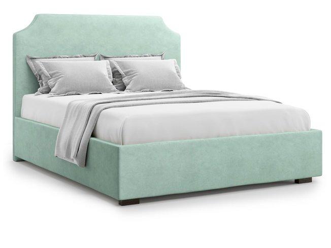 Кровать 1400 Izeo без подъемного механизма, ментоловый велюр velutto 14 фото