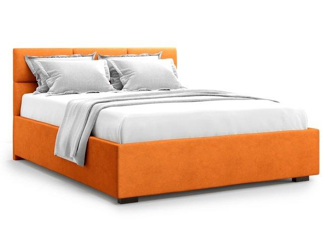 Кровать 1400 Bolsena без подъемного механизма, оранжевый велюр velutto 27 фото