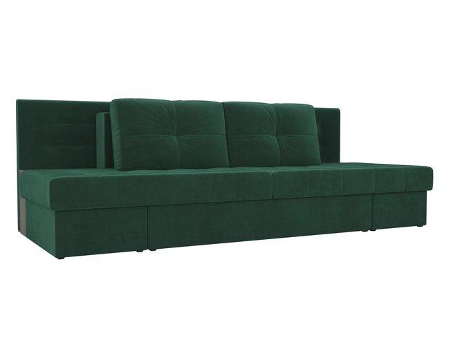 Диван-кровать трансформер Дублин, зеленый/велюр фото