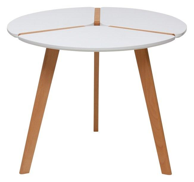 Стол обеденный круглый PEONY D90, белый фото
