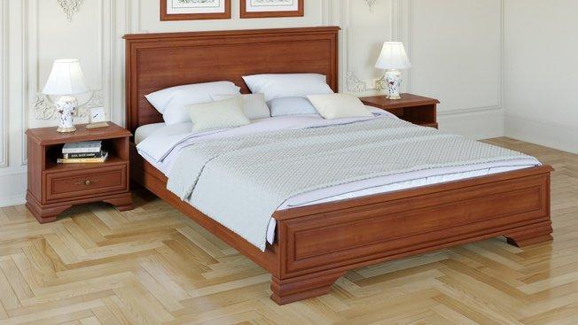 Кровать Кентаки 1600 с тумбами, каштан фото