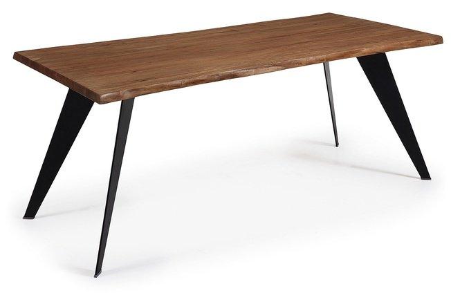 Стол обеденный Nack 180x100, черный каркас/античный дуб C747M90 фото
