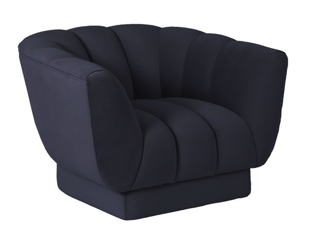 Кресло Fabio велюровое синее FABIO-1-2K-СИНИЙ-Gen12 фото