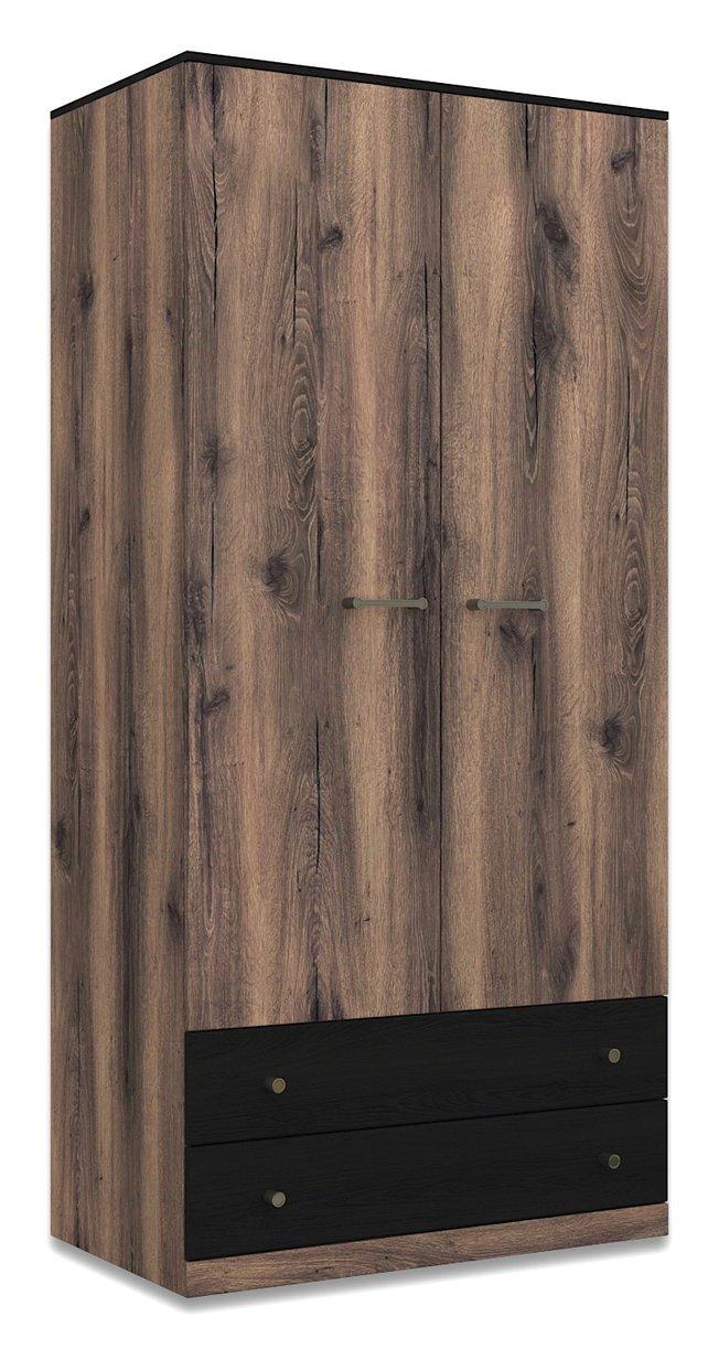 Шкаф 2-дверный с ящиками Джаггер 2DG2S и полками фото