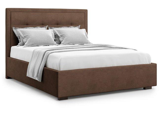 Кровать 1600 Komo без подъемного механизма, шоколадный велюр velutto 23 фото