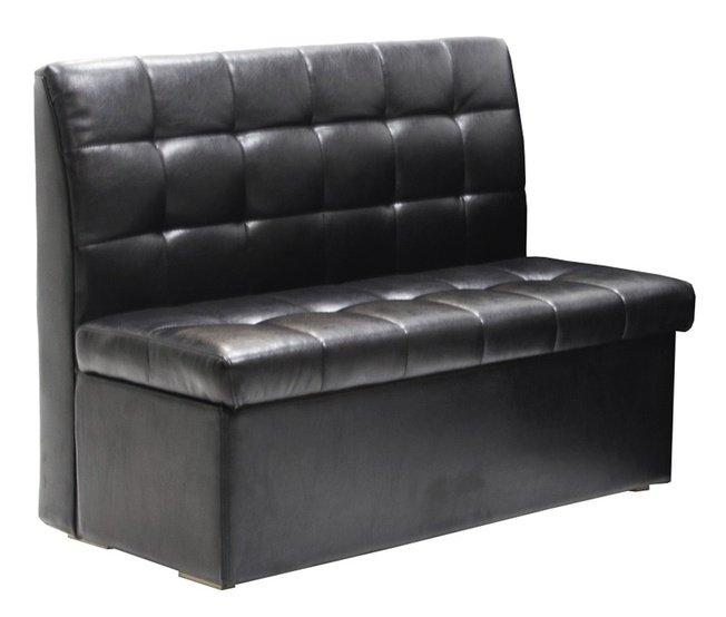 Кухонный диван-скамья Модерн 1200, черный фото