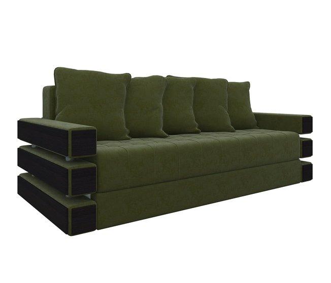 Диван-кровать Венеция, зеленый/микровельвет фото