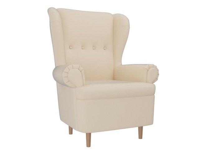 Кресло Торин, бежевое/экокожа фото