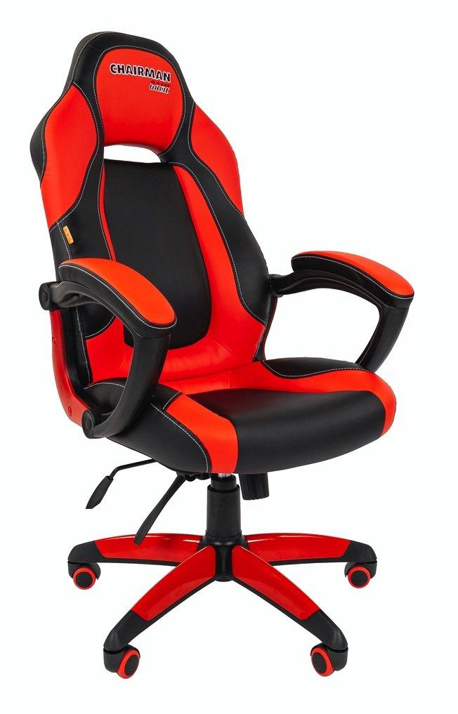 Офисное кресло Chairman game 20 экопремиум, черный/красный фото
