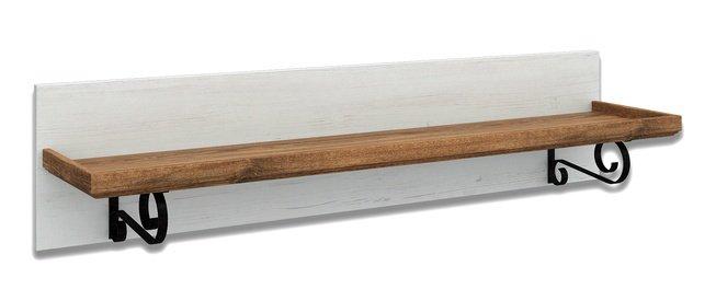 Полка настенная Кантри, сосна/орех натуральный фото