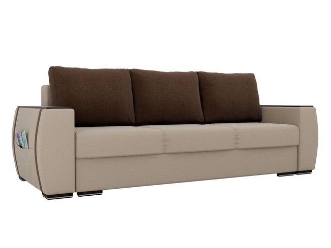 Диван-кровать Брион, бежевый/коричневый/рогожка фото