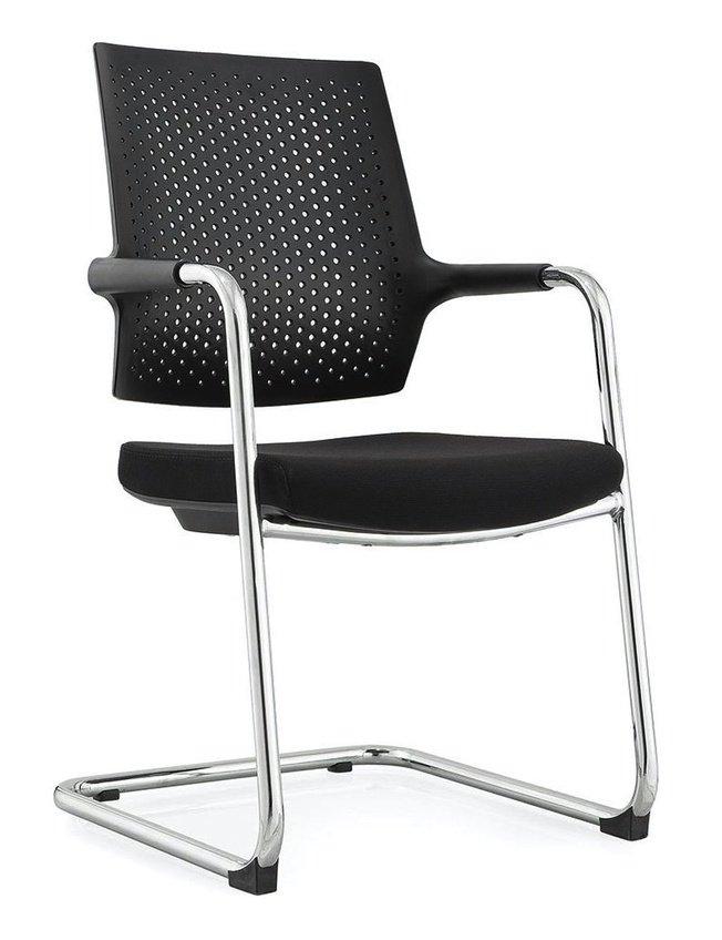 Кресло офисное Стайл 2 CF, хром/черная ткань/спинка черный пластик фото