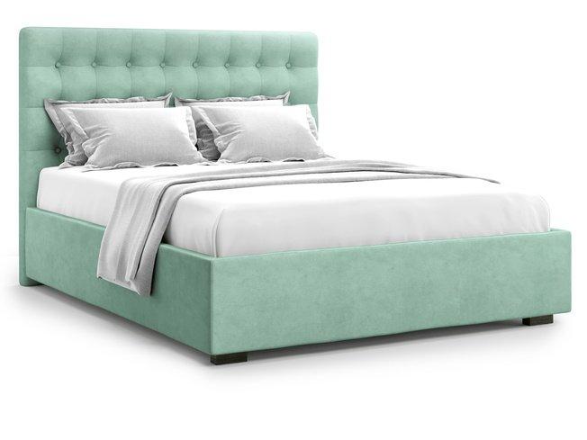 Кровать 1400 Brayers с подъемным механизмом, ментоловый велюр velutto 14 фото