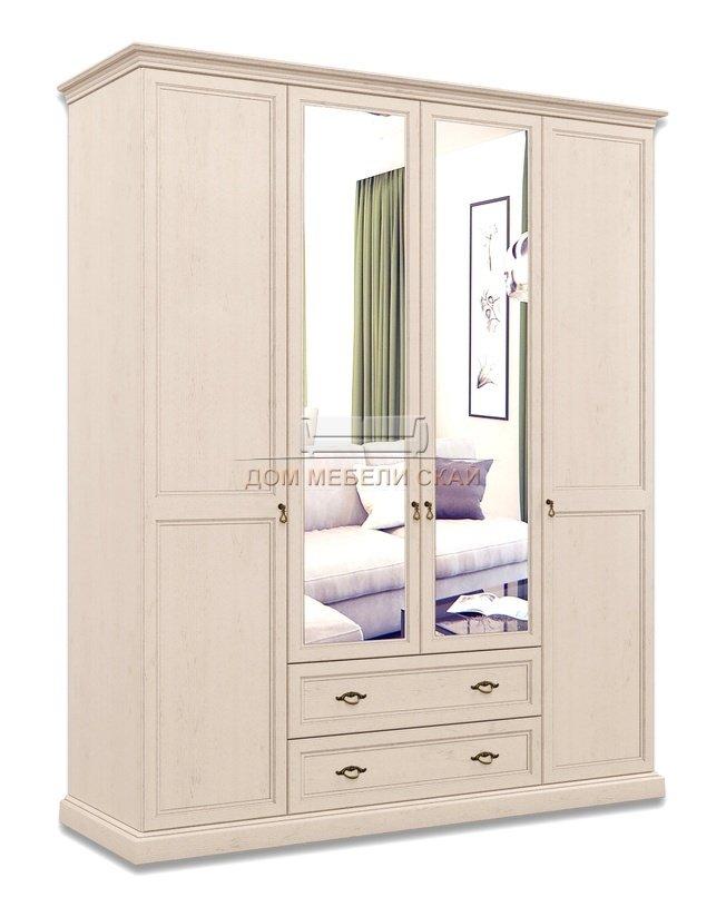 Шкаф Венеция 4-дверный с зеркалом с ящиками ВНШ1/41, дуб седан - купить за 51900 руб. в Москве (арт. B10002217)   Дом мебели Скай