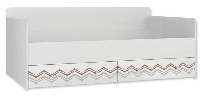Кровать 900 Модерн-абрис с выкатными ящиками фото