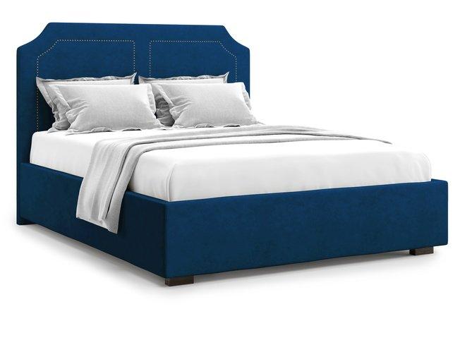 Кровать 1400 Lago с подъемным механизмом, синий велюр velutto 26 фото